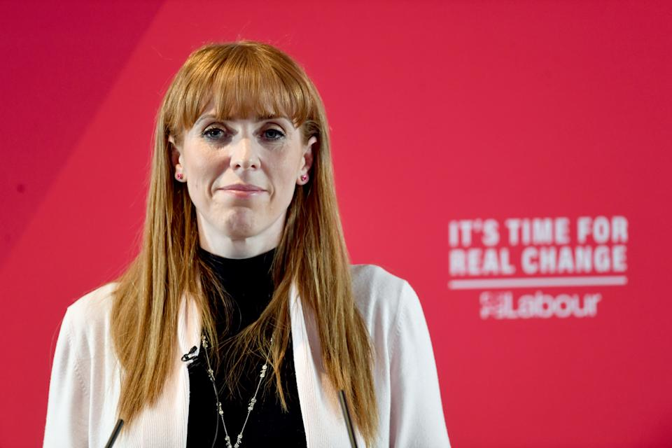 Labour party shadow education secretary Angela Rayner during an event in Blackpool as the Labour party set out their plans for education ahead of the upcoming General Election.