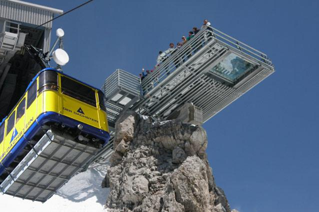 Dachstein Sky Walk, Austria. Photo: Planai-Hochwurzen-Railway-Ltd - Take a cable car up from Türlwandhütte to Hunerkogel station at this 9,000ft mountain and enjoy the spectacular views afforded by Austria's Dachstein Sky Walk.