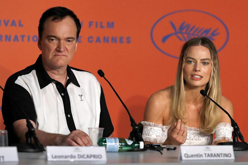 Defensive: Quentin Tarantino reacted angrily to a question about Margot Robbie's screen time (John Phillips/Getty Images)