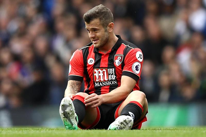 Injured: Jack Wilshere last spent eight months on the sidelines with the same injury: Getty Images