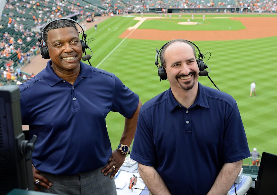 Rod Allen and Mario Impemba reportedly had a physical altercation with each other after the Tigers game on Tuesday. (Photo by Mark Cunningham/MLB Photos via Getty Images)