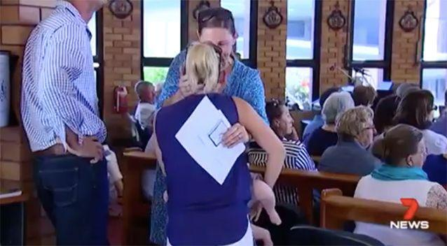 Friends and family united at the church. Source: 7 News