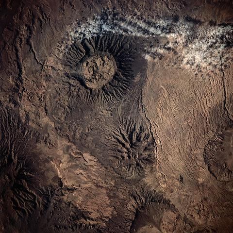 The Tibesti Mountains from space - Credit: GETTY