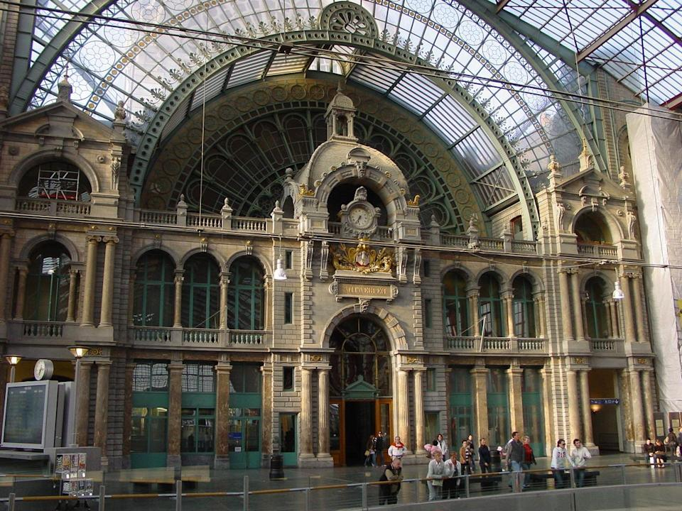 Danger zone? Passing through stations such as Antwerp Central makes travellers liable for quarantine in the UK: Simon Calder