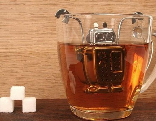 <p>He can now infuse his tea with this trusty steel <span>robot infuser</span> ($13). </p>