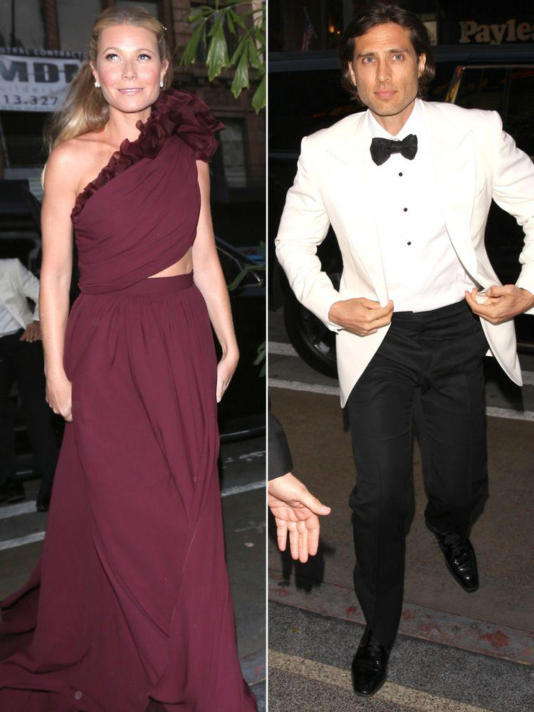 Gwyneth Paltrow and Brad Falchuk outside their glitzy engagement party