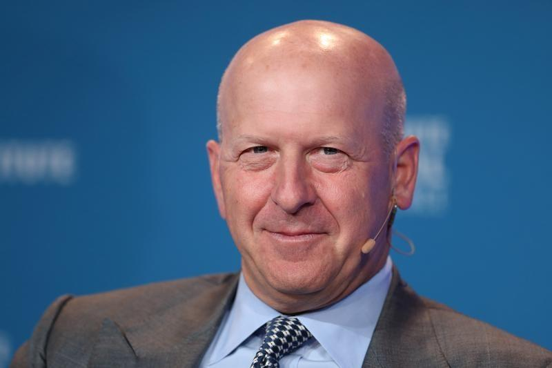 David M. Solomon, President and Chief Operating Officer, Goldman Sachs, speaks at the Milken Institute's 21st Global Conference in Beverly Hills