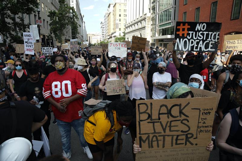 washington dc protests george floyd no justice no peace black lives matter