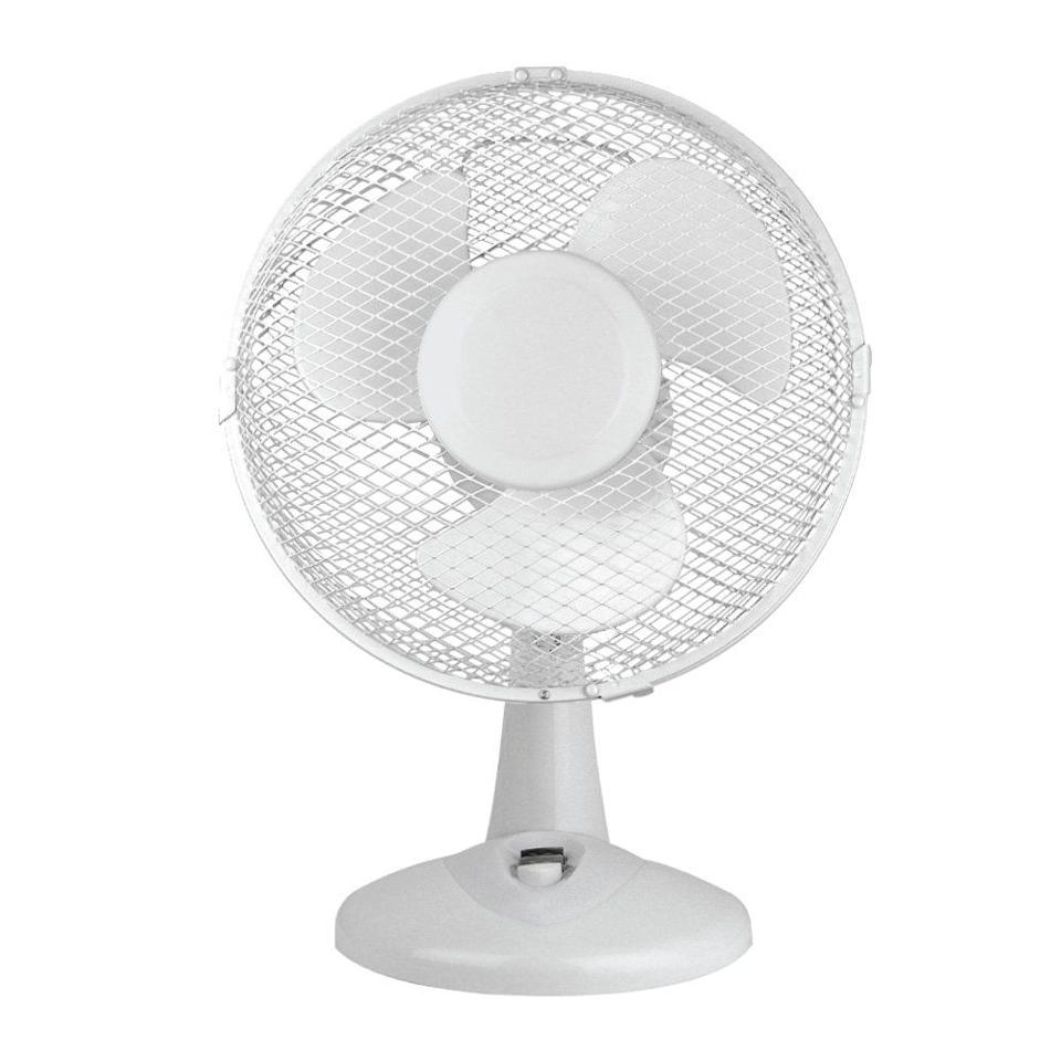 """<p>Features 2 speed settings with adjustable angles and a built-in carry handle.</p><p><strong><em>Portable 9-Inch Oscillating Desk Fan by Status, £11.99, Amazon</em></strong></p><p><a rel=""""nofollow"""" href=""""https://www.amazon.co.uk/Status-Portable-9-Inch-Oscillating-White/dp/B00RXT1SIO/"""">BUY NOW</a></p>"""
