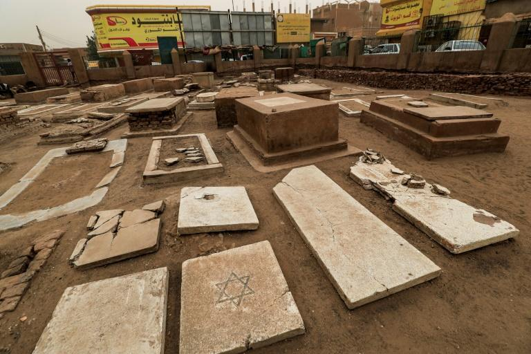 Gravestones in the tiny, run-down Jewish cemetery in Khartoum, remnants of the small Jewish community which once lived in Sudan