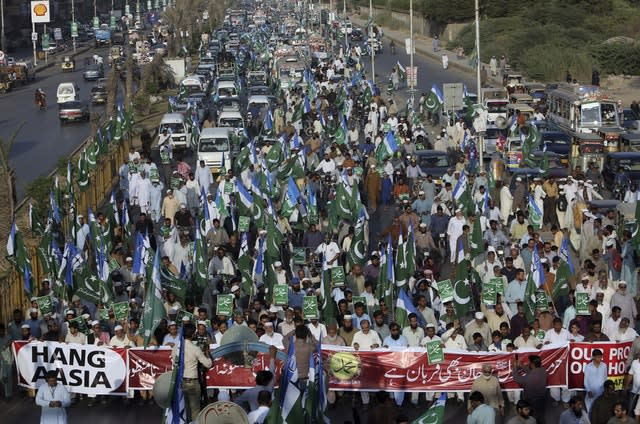 Protests against Asia Bibi's acquittal in Karachi