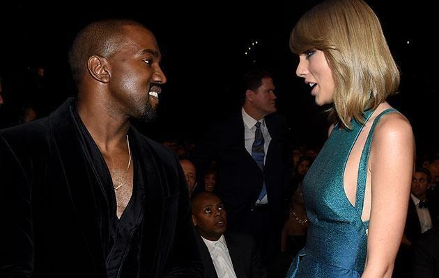Taylor Swift and Kanye West. Source: Getty Images.
