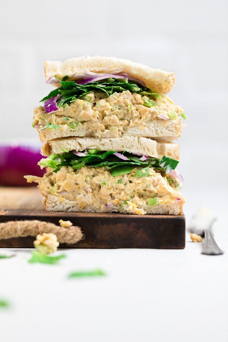 """<p>Well not chick-en, but chickpea, though you could've fooled me. This chickpea salad makes a great sandwich filler that'll still satisfy your craving for your family's traditional chicken salad. Plus, it only takes 15 minutes!<br><br><a class=""""link rapid-noclick-resp"""" href=""""https://makeitdairyfree.com/vegan-chicken-salad/"""" rel=""""nofollow noopener"""" target=""""_blank"""" data-ylk=""""slk:Get the recipe"""">Get the recipe</a><br><em><br>Per serving: 293 cal, 18 g fat (1 g saturated fat), 24 g carbs, 591 mg sodium, 7 g fiber, 8 g protein</em></p>"""
