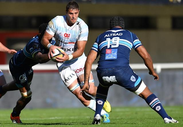 Gerbrandt Grobler (centre) in action for former club Racing 92 (AFP Photo/PASCAL GUYOT)