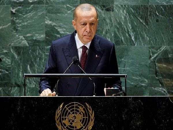 Turkish President Tayyip Erdogan addressed the 76th Session of the UN General Assembly in New York City, US, on September 21. (Photo Credit: Reuters)