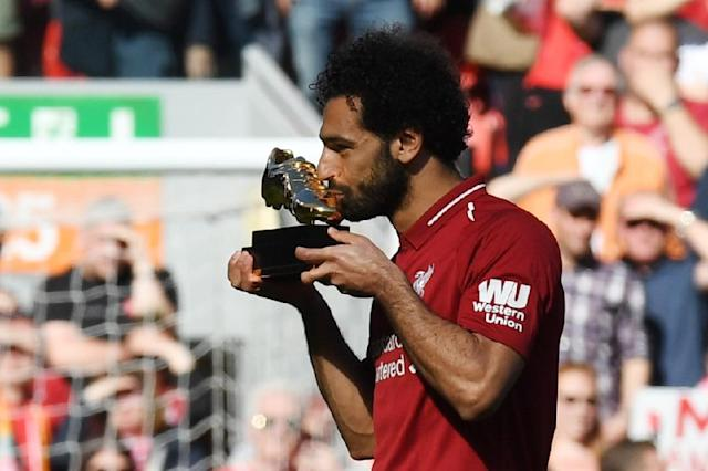 Liverpool forward Mohamed Salah won the Premier League golden boot award for the 2017/18 season (AFP Photo/Paul ELLIS)