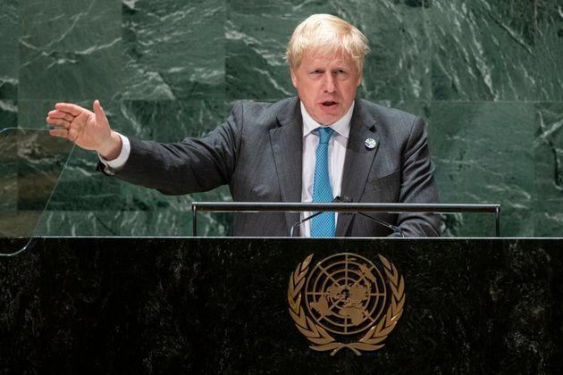 <strong>Boris Johnson addresses the 76th Session of the United Nations General Assembly.</strong> (Photo: via Associated Press)