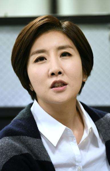 The audience share for Lee's programme -- the most-watched news broadcast in the country -- has risen from 9.6 to 11 percent since she started in November (AFP Photo/Jung Yeon-je)