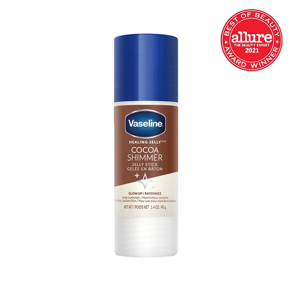 <strong>Vaseline Jelly Stick</strong> attacks chap wherever it occurs (lips, cuticles, knees) — and it now also comes in cooling menthol (Refreshing) and a beachy glow (Cocoa Shimmer).