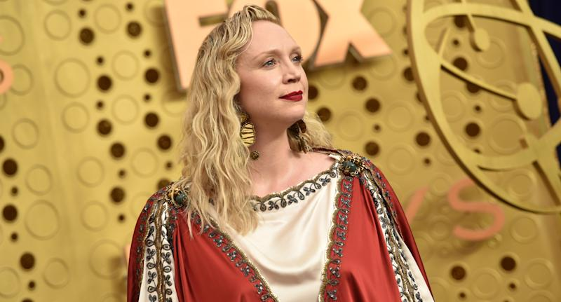 Gwendoline Christie in Gucci. (Photo by John Shearer/Getty Images)
