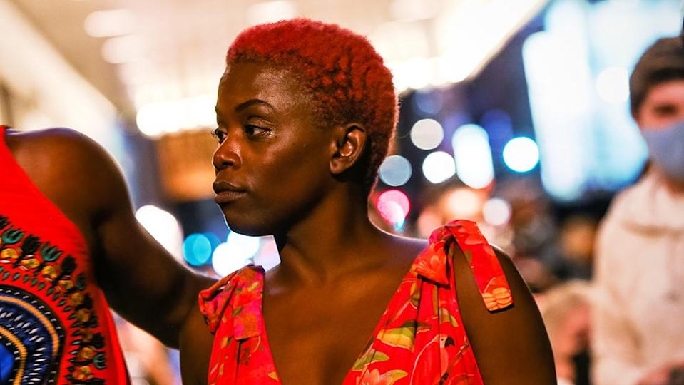 Antoinette Chinonye Nwandu appears at the 'Pass Over' post-show block party in New York - Credit: Courtesy of Lexie Moreland