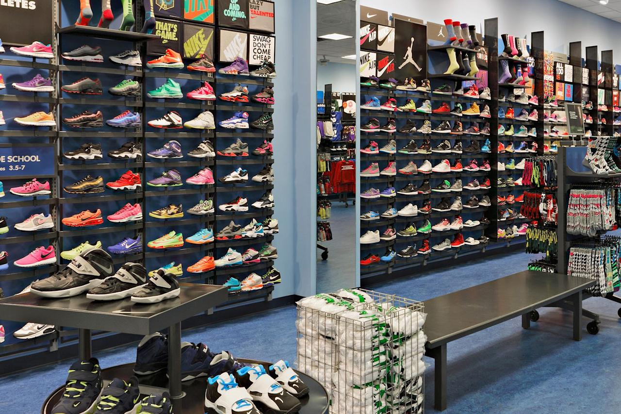 <p>The study authors from Loyola University also noted that the ideal time of day to head to the store is late in the day, since your feet will have naturally expanded after hours of being on them. And when you get fitted for sneakers, be sure to wear your typical running socks, as well as orthotics. </p>