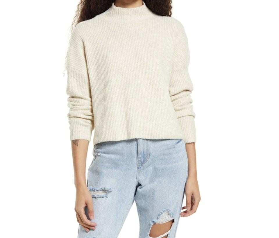 <p> <span>BP. Mock Neck Sweater</span> ($35) makes an affordable style to add to your fall closet. Thanks to its minimal silhouette and versatile palette, you'll have no problem styling it with everything you already own.</p>