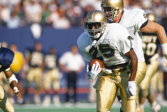 "Raghib ""Rocket"" Ismail helped Notre Dame win a national title in 1988 and almost won a Heisman in 1990. (Getty)"