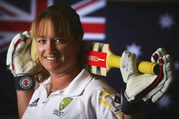 ADELAIDE, AUSTRALIA - FEBRUARY 27: Karen Rolton of the Australia Women's cricket team poses during the Southern Stars Portrait Session at the Saville Suites on February 27, 2006 in Adelaide, Australia. (Photo by Robert Cianflone/Getty Images)