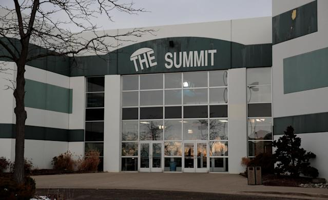 The front of the Summit Sports Complex that houses the Twistars Gymnastics Club is seen in Dimondale, Michigan, U.S., February 1, 2018. Photo taken February 1, 2018. REUTERS/Rebecca Cook
