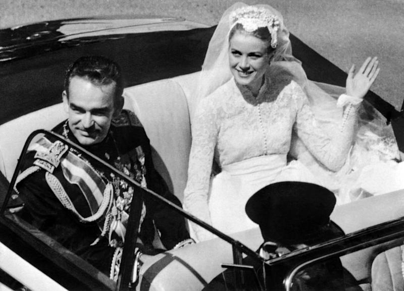 Grace Kelly on her wedding day in 1956 (AFP/Getty Images)