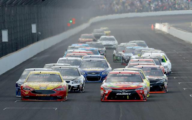 The Brickyard 400 is moving back on NASCAR's 2018 Cup Series schedule. (Getty)
