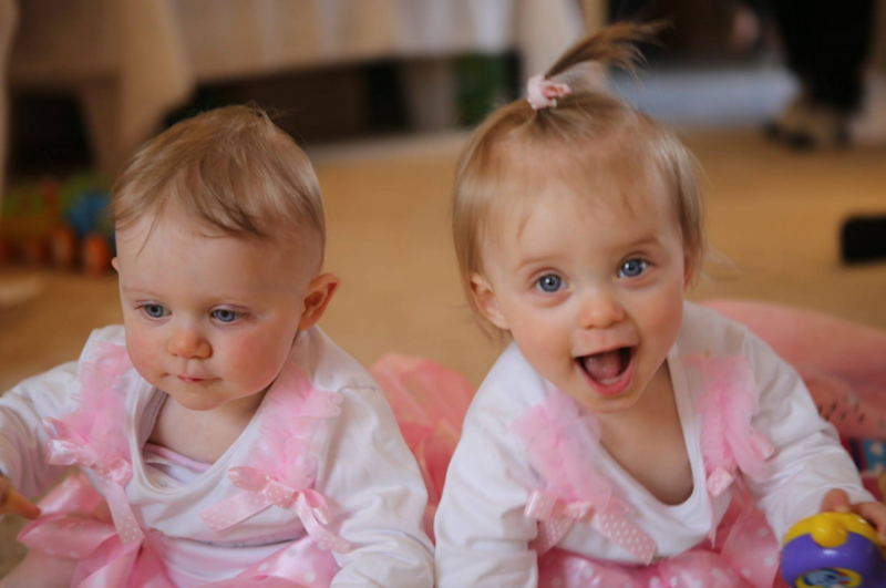 The twins celebrated their first birthday earlier this month. Photo: Facebook