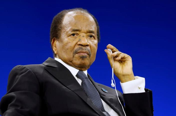 FILE PHOTO: Cameroon President Paul Biya attends the Paris Peace Forum