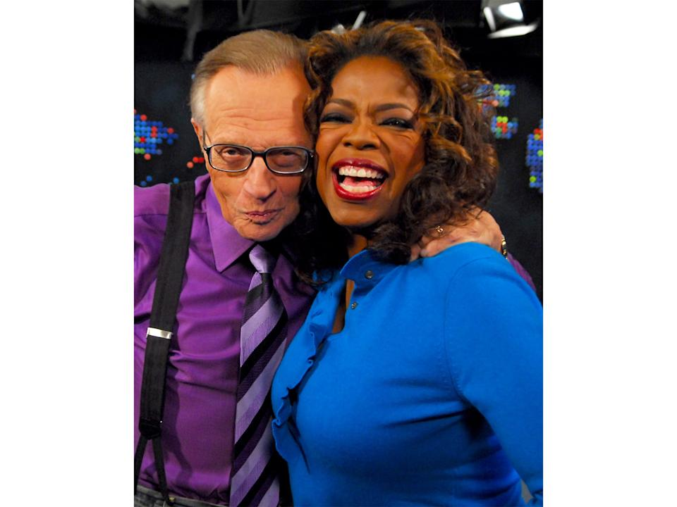 Oprah Winfrey joins King for his 50th anniversary in broadcastingGetty
