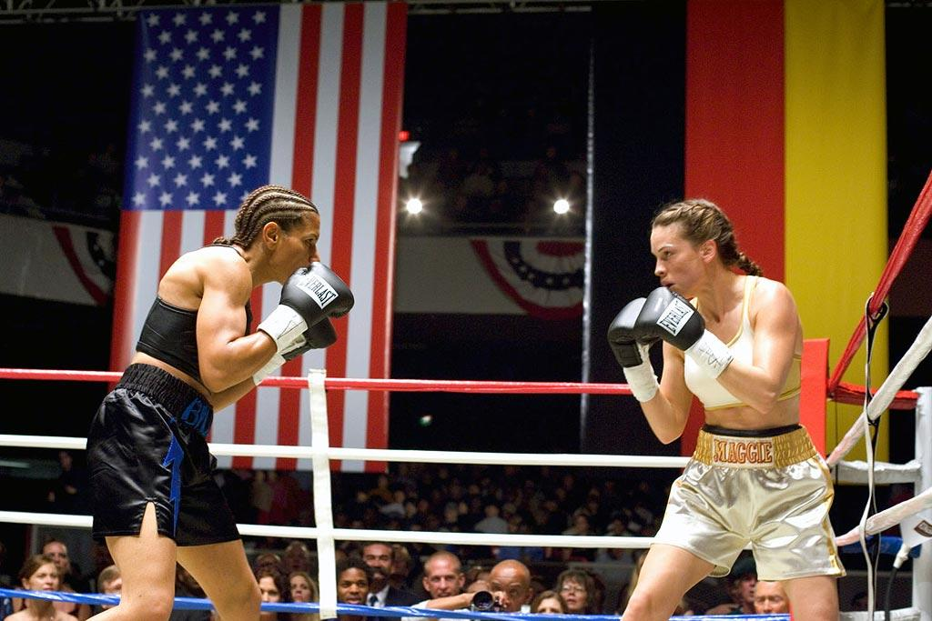 "<a href=""http://movies.yahoo.com/movie/contributor/1800020739"">Hilary Swank</a>, ""<a href=""http://movies.yahoo.com/movie/1808600393/info"">Million Dollar Baby</a>""<br><br>Oscar winner Hilary Swank knocked everyone out with her tour-de-force performance as an amateur female boxer who dreams of making it big as a professional fighter in this fist-pumping, weep-inducing Best Picture winner."