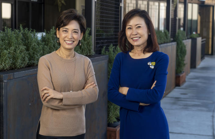 Young Kim, left, and Michelle Steel were elected to the U.S. House of Representatives in November, 2020. (MediaNews Group / via Getty Images)