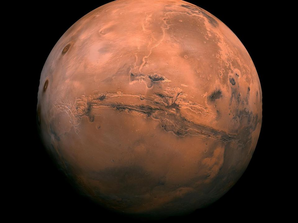 The Martian landscape is scarred by huge water flows: EPA