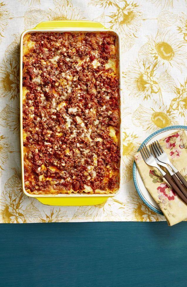 """<p>Ree's super-popular lasagna dish couldn't be easier to make. And she says that Ladd basically proposed to her over it. Do you really need any more convincing?</p><p><strong><a href=""""https://www.thepioneerwoman.com/food-cooking/recipes/a11728/best-lasagna-recipe/"""" rel=""""nofollow noopener"""" target=""""_blank"""" data-ylk=""""slk:Get the recipe."""" class=""""link rapid-noclick-resp"""">Get the recipe.</a></strong> </p>"""
