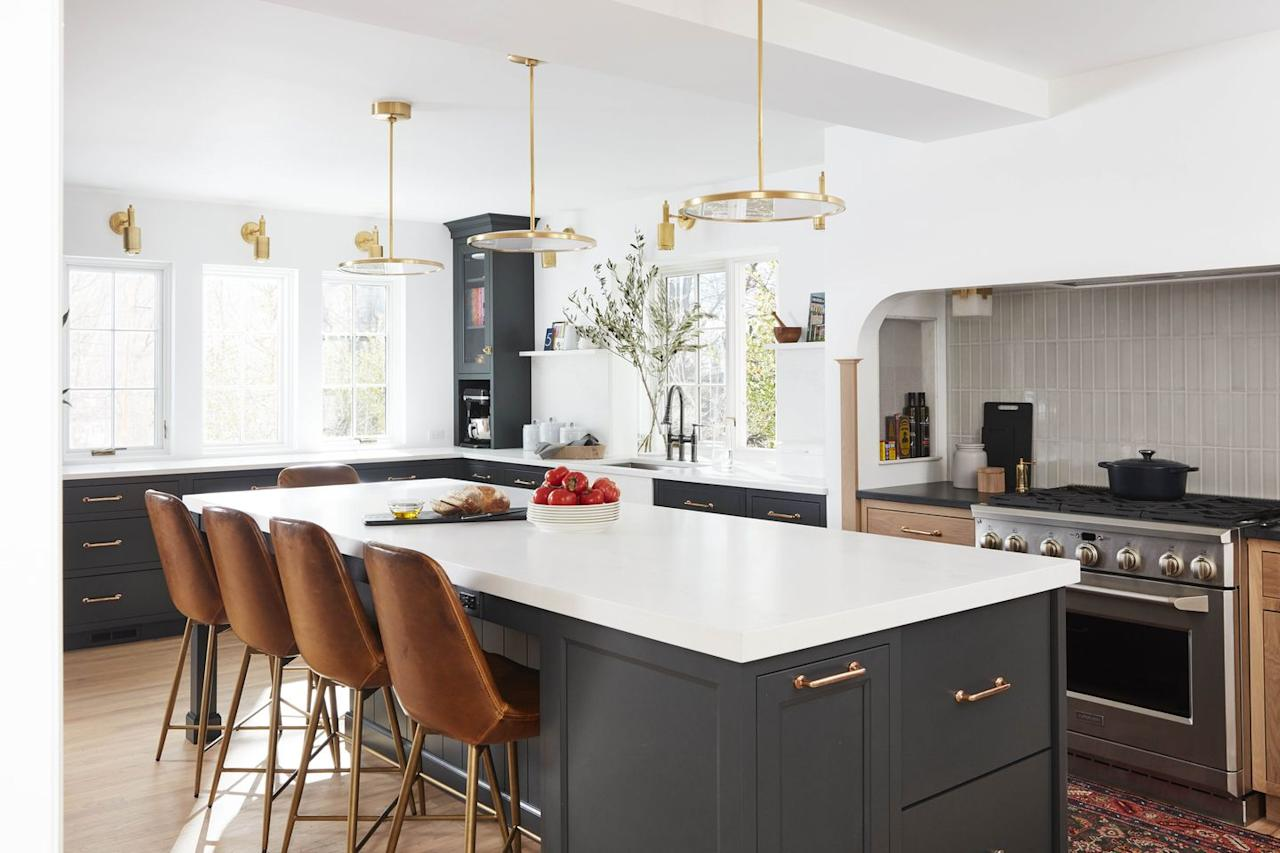"""<p>For <em>House Beautiful </em>and Delish editorial director<a href=""""https://www.housebeautiful.com/home-remodeling/renovation/a30696946/jean-stoffer-jo-saltz-new-jersey-kitchen/"""" target=""""_blank""""> Jo Saltz's family kitchen,</a> she wanted a white that didn't skew yellow. """"Paint is <em>so </em>hard to recommend<em></em><em>, </em>because you really need to see it in the space,"""" explains her designer, Jean Stoffer. Since the room has a south-facing window, Stoffer knew it needed a bluer paint to read as bright and clean in the warm light. So after multiple trial rounds, Jo picked Chantilly from Benjamin Moore. </p><p><a class=""""body-btn-link"""" href=""""https://www.benjaminmoore.com/en-us/color-overview/find-your-color/color/oc-65/chantilly-lace?color=OC-65"""" target=""""_blank""""> BUY NOW </a></p>"""