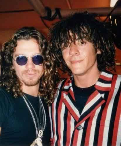 Michael Hutchence's brother Rhett posted this photo with his open letter. Source: Facebook