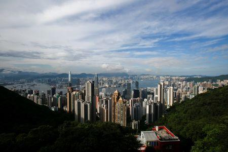 FILE PHOTO: A general view of the Victoria Harbour from the Peak in Hong Kong