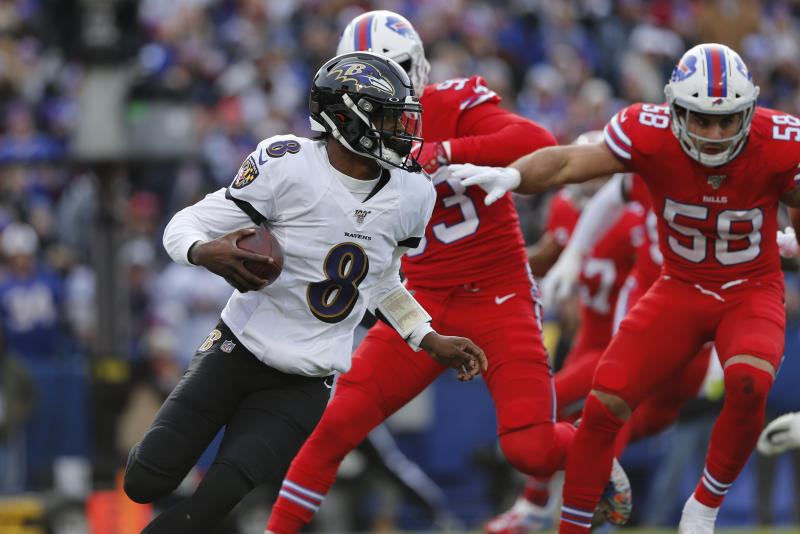 A preseason matchup between the Ravens and Bills is reportedly on the cutting board. (AP Photo/John Munson)