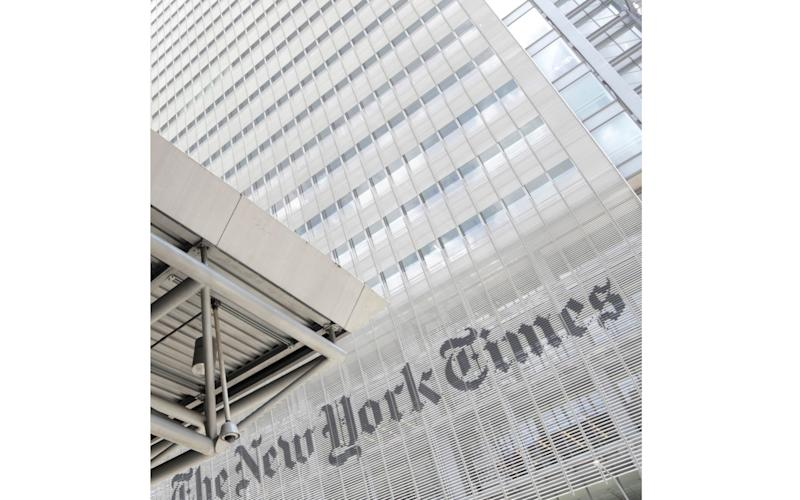 The New York Times was accused by Weiss of 'kowtowing' to the Twitter 'mob' - Julio Cortez/AP
