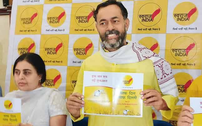 MCD polls: Yogendra Yadav's Swaraj India presents its vision for a greener Delhi