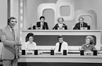 <p>Gene Rayburn was the host of <em>Match Game </em>from its daytime premiere in 1962 until 1984. In the beginning, contestants could win a few hundred dollars for matching answers with celebrity panelists. Rayburn was a popular radio host, as well as a Broadway and television actor. <em>Match Game </em>was incredibly popular in the '70s and went through a few revivals with hosts Ross Shafer and Michael Burger. Rayburn died in 1999 from congestive heart failure.</p>