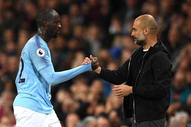 "Yaya Toure and Pep Guardiola have had their differences over the years, both at Manchester City and <a class=""link rapid-noclick-resp"" href=""/soccer/teams/barcelona/"" data-ylk=""slk:Barcelona"">Barcelona</a>. (Getty)"