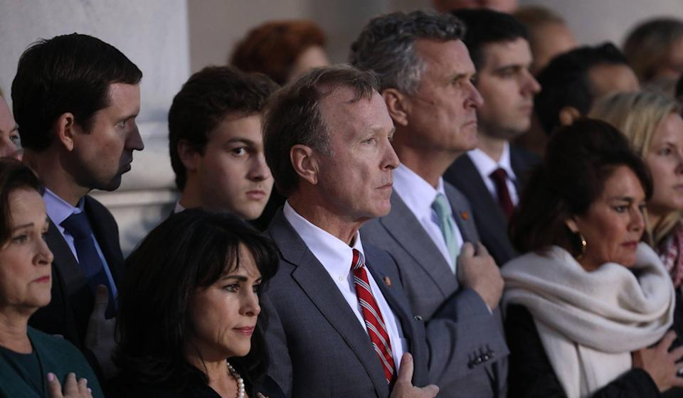 Neil Bush (centre) at his father's state funeral last year. Photo: Alamy