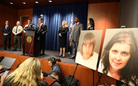 Riverside County District Attorney Mike Hestrin announces charges against David Turpin, 56, and Louise Turpin, 49, in Riverside - Credit:  LUCY NICHOLSON/Reuters