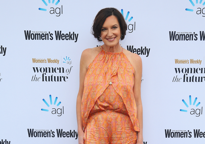 Cassandra Thorburn has appeared to make a subtle dig at her ex, Karl Stefanovic's soon-to-be wife Jasmine Yarbrough during an event in Sydney yesterday. Source: Getty